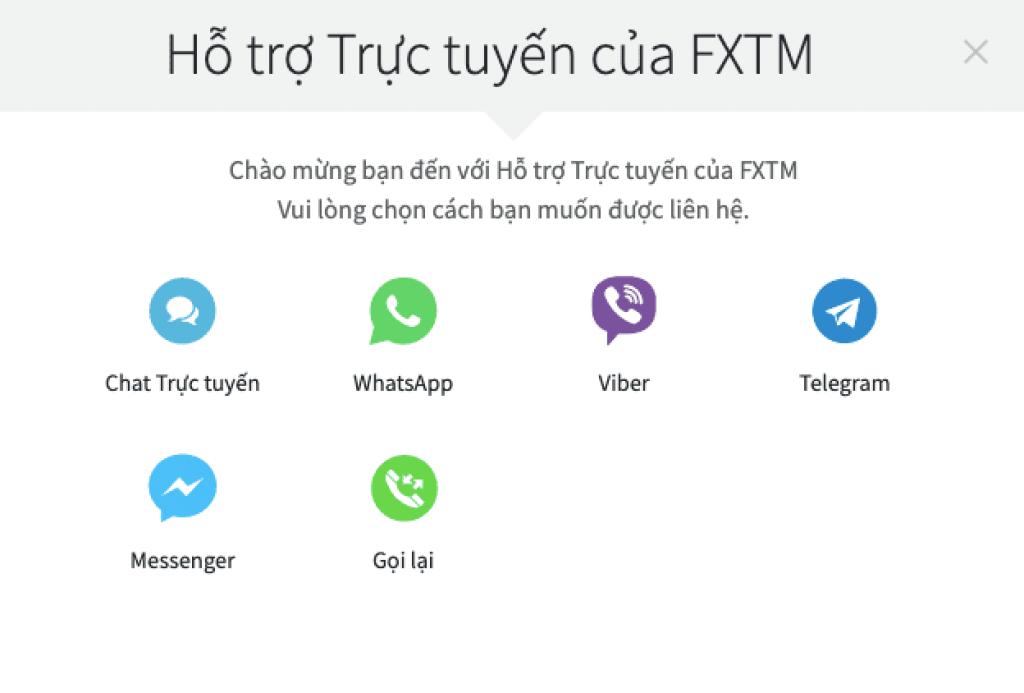 Hỗ trợ khách hàng FXTM