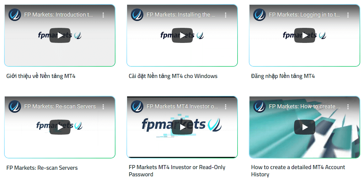 FP Markets Đào tạo