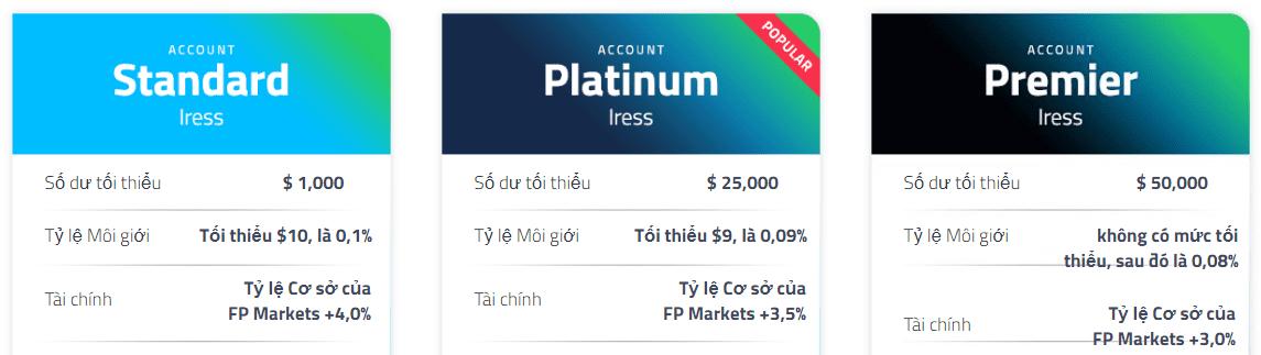 FP Markets Mở tài khoản Iress