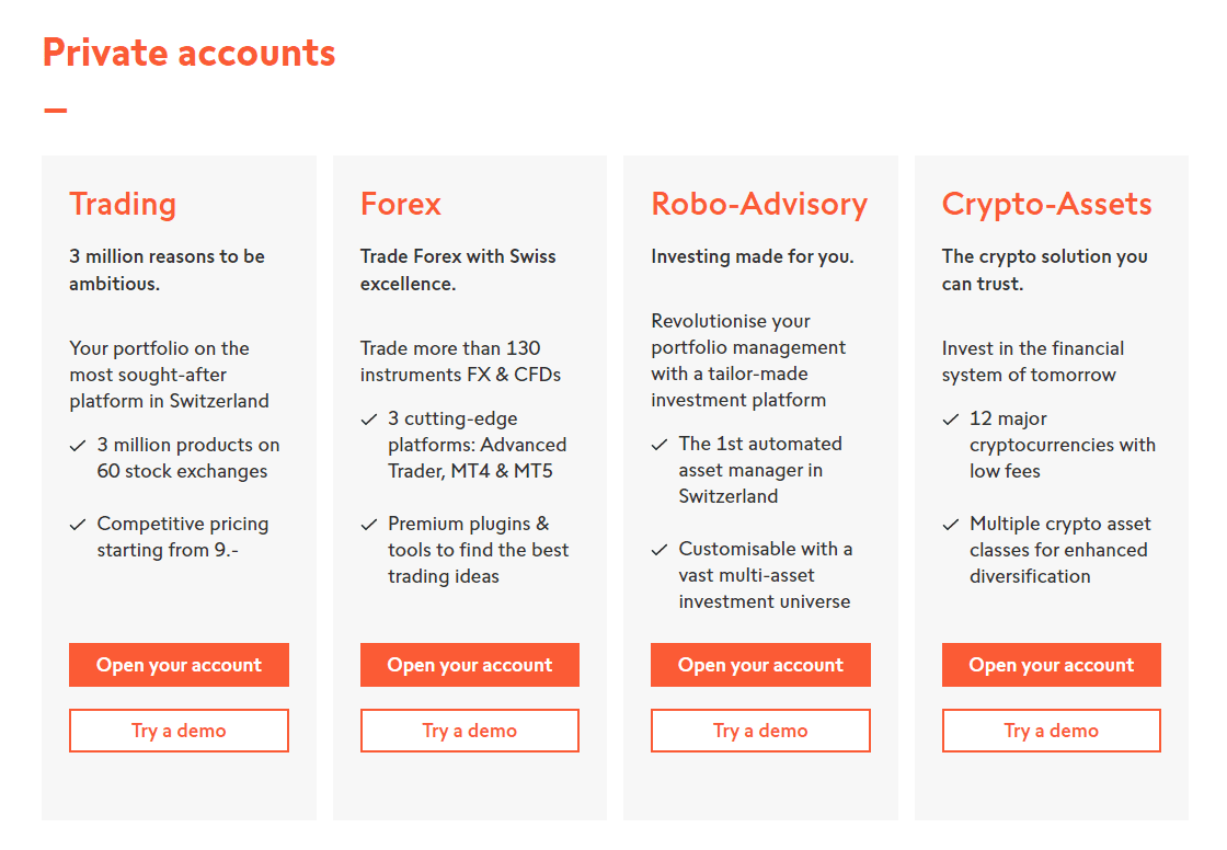Swissquote Mở tài khoản