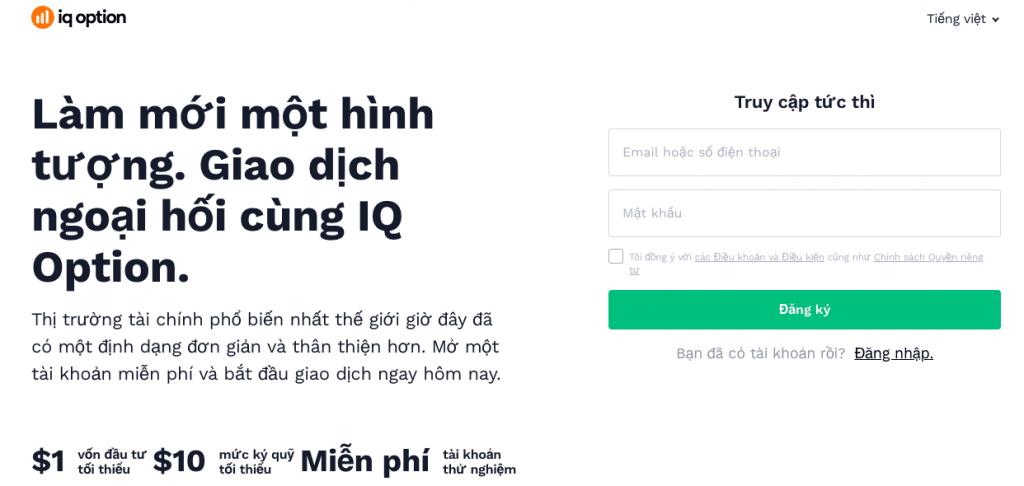 Đăng ký tài khoản IQ Option