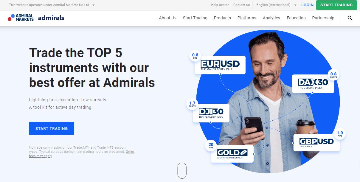 MetaTrader 5 Cách tạo tài khoản trên MetaTrader 5 Admiral Markets