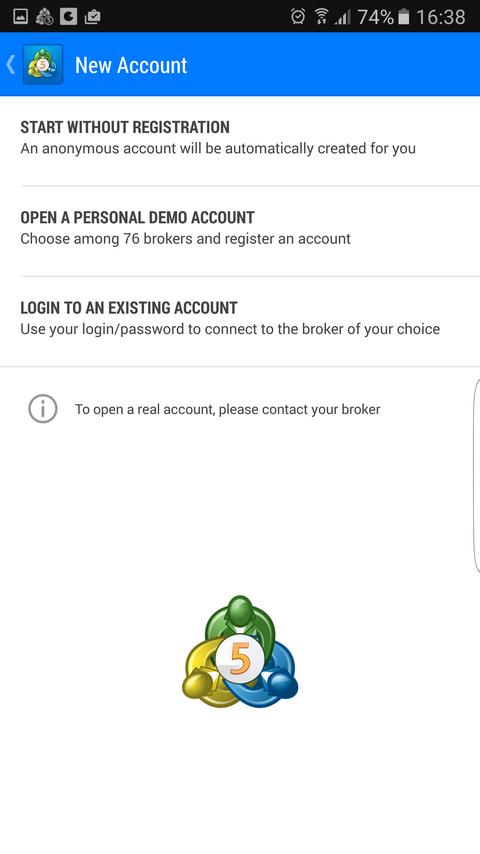 MetaTrader 5 Cài đặt nền tảng MT5 như thế nào Trên Android Bắt đầu chương trình