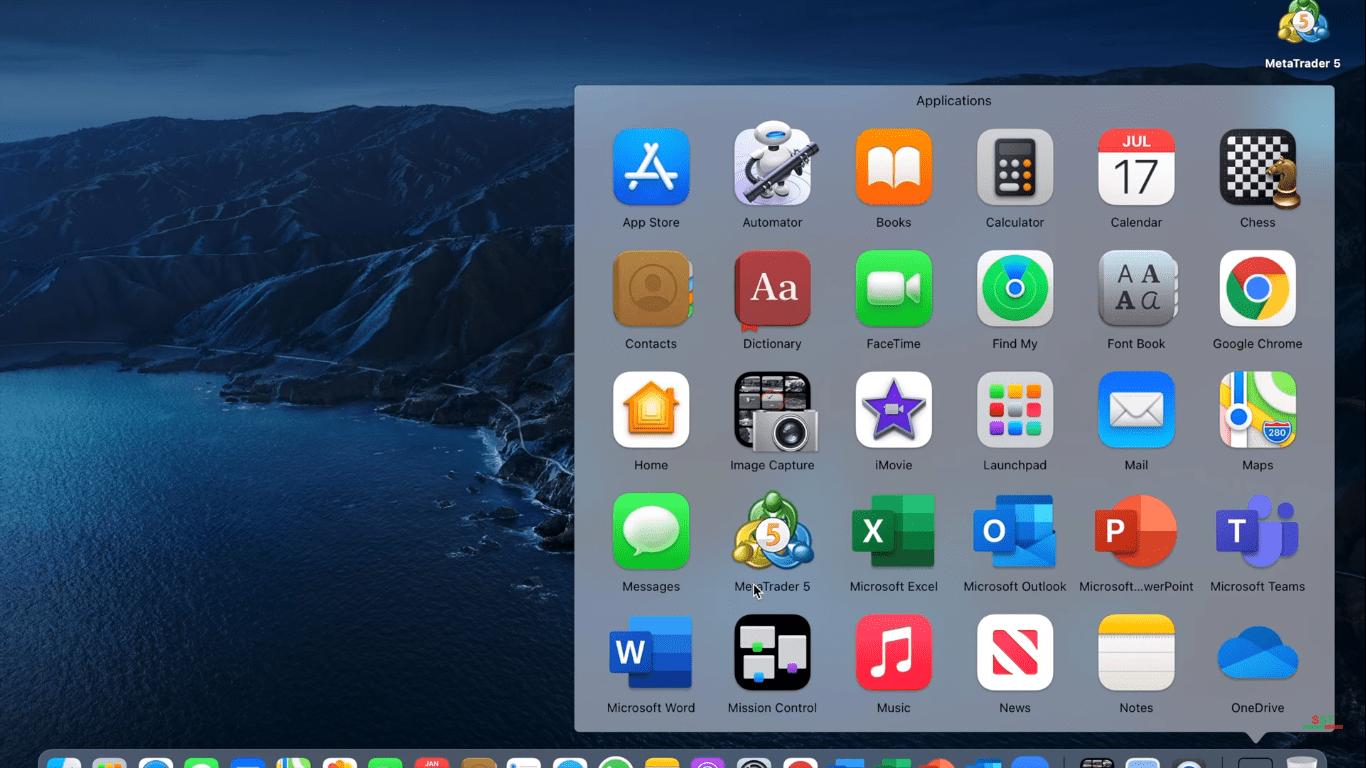 MetaTrader 5 Cài đặt nền tảng MT5 như thế nào Trên máy MAC Truy cập ứng dụng